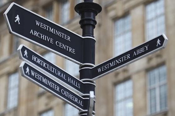 London westminster signs