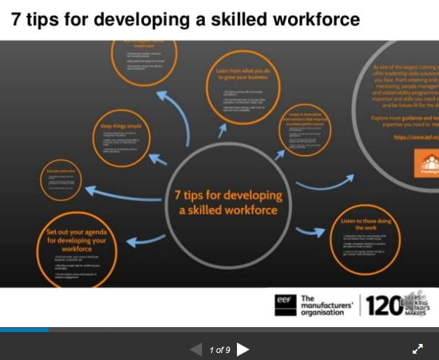 7 tips for developing a skilled workforce | EEF