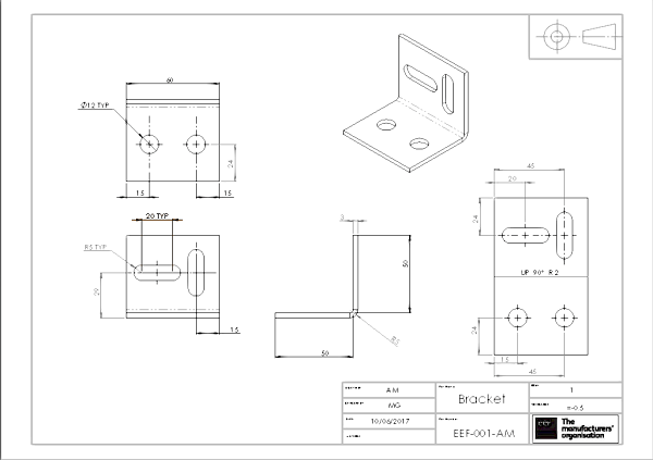 How to read engineering drawings a simple guide eef engineering drawing 1 malvernweather Choice Image